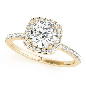 lab created diamond engagement