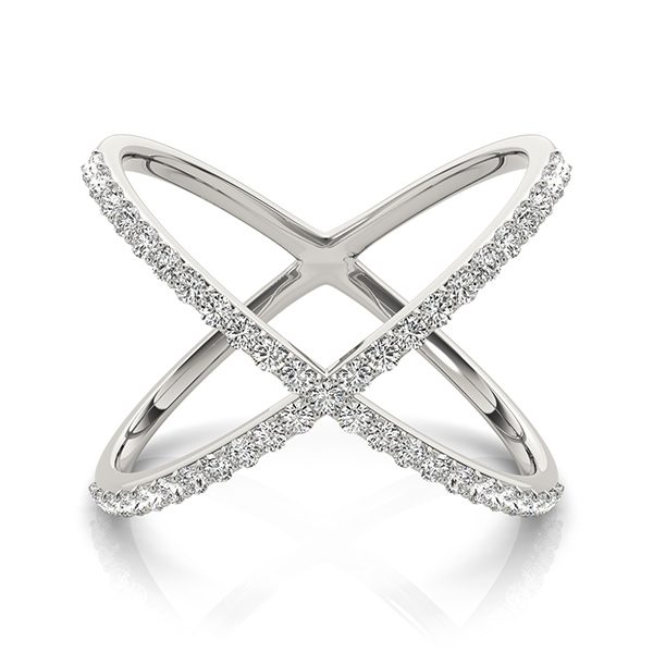 lab grown fashion ring white gold
