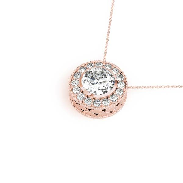 lab created diamond pendant