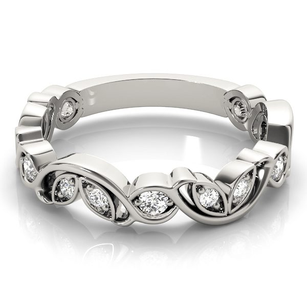 lab created diamond stackable ring