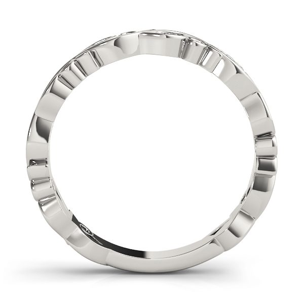 lab grown stackable rings white gold