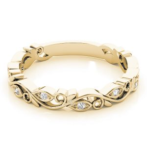 lab grown stackable rings yellow gold