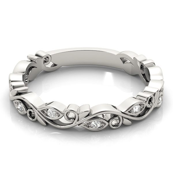 lab grown stackable ring white gold