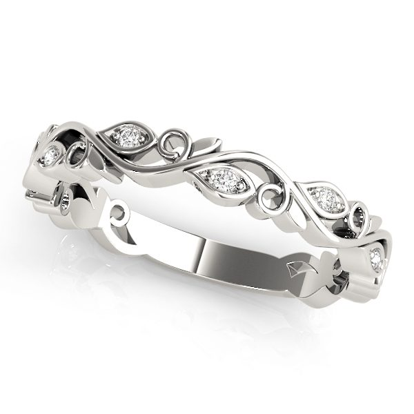 lab grown diamond stackable rings white gold