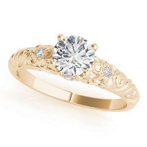 lab grown diamond vintage ring