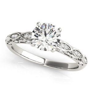 lab created diamond vintage engagement