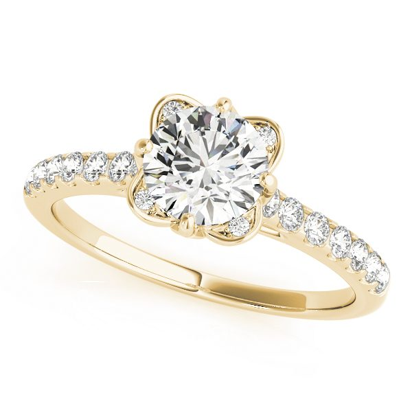 lab grown diamond vintage engagement